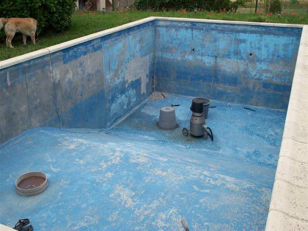 D gats fissure enduit friable peinture sur autres piscines for Reparer un liner de piscine
