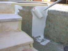Intervention sur d bordement pre com for Etancheite piscine avant carrelage